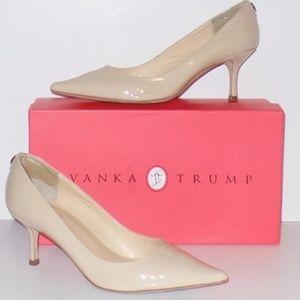 Ivanka Trump Nude Patent Leather Heels Pumps 8W
